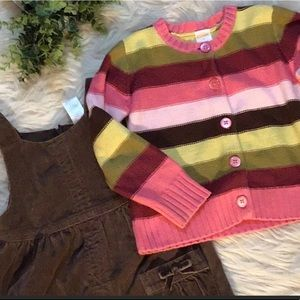 🎁5 For $15 Gymboree Brown Corduroy Bib Dress